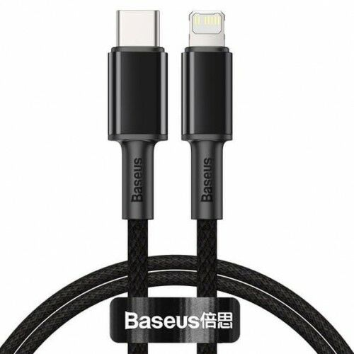 Kabel Baseus High Density Braided 20W USB-C do Lightning 1m, czarny