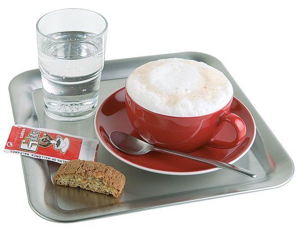 Taca kwadratowa ze stali nierdzewnej do serwowania kawy 230x230mm