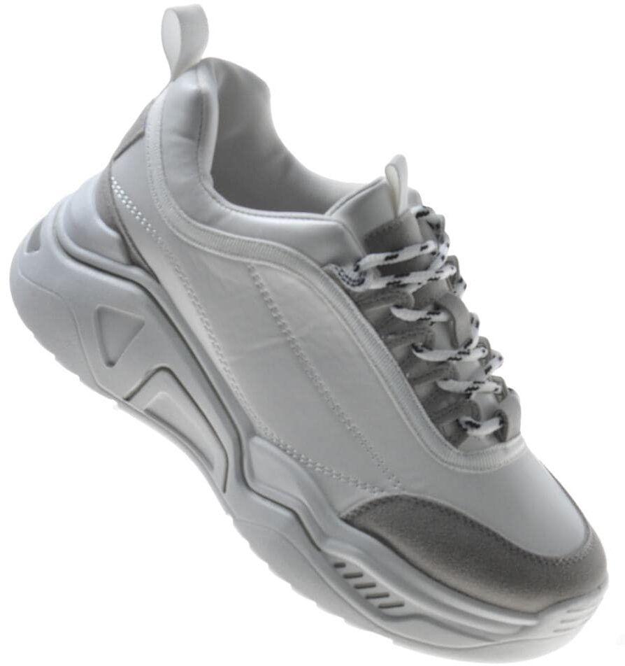 Pantofelek24.pl Modne damskie buty sportowe BIAŁE