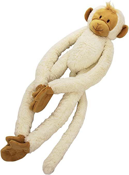 Happy Horse 15120 - małpa wisząca, pluszowe zwierzątko, duża, biała