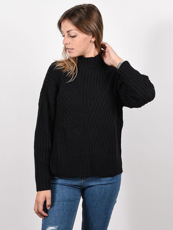 RVCA ARABELLA black damski sweter projektant