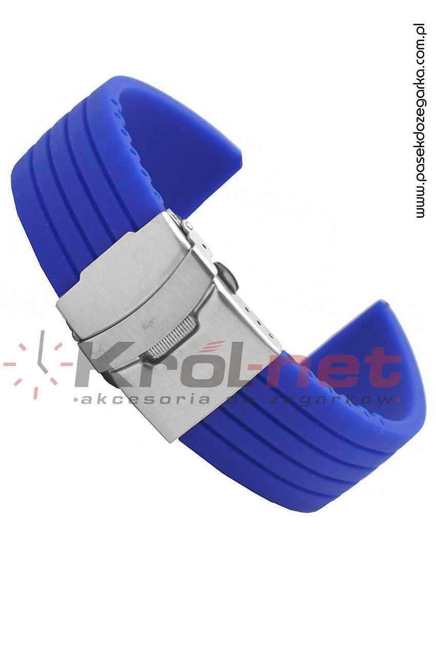 Pasek RP058NIE/24 - niebieski, silikonowy