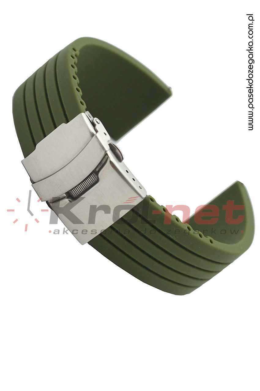 Pasek RP058ZIE/24 - zielony, silikonowy