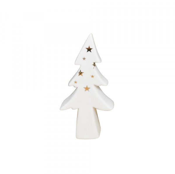 Figurka Bożonarodzeniowa Porcelanowa Choinka Biała 16 Cm - /W24h/