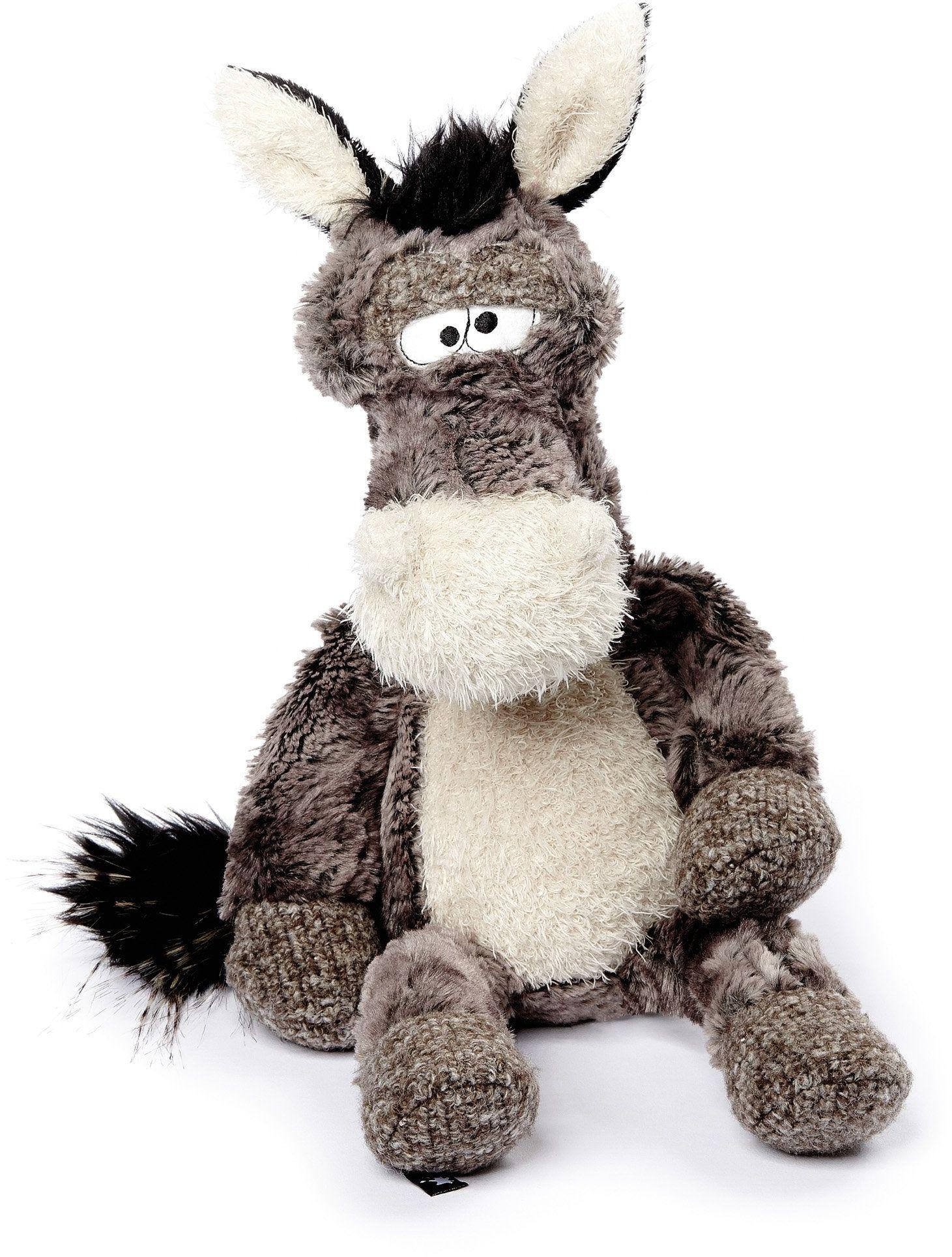 sigikid BEASTS 38482  przytulanka dla dorosłych i dzieci, Oselhengst Doodle Donkey, szara/biała
