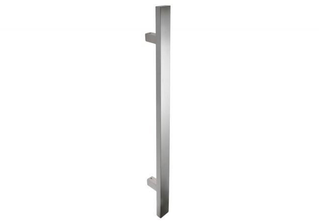 Pochwyt drzwiowy jednostronny L-600/90 stal nierdzewna prostokątny bez śrub łączących uchwyt