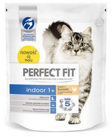 PERFECT FIT (Indoor 1+) 3 x 750g Bogaty w kurczaka - sucha karma dla kotów żyjących w domu