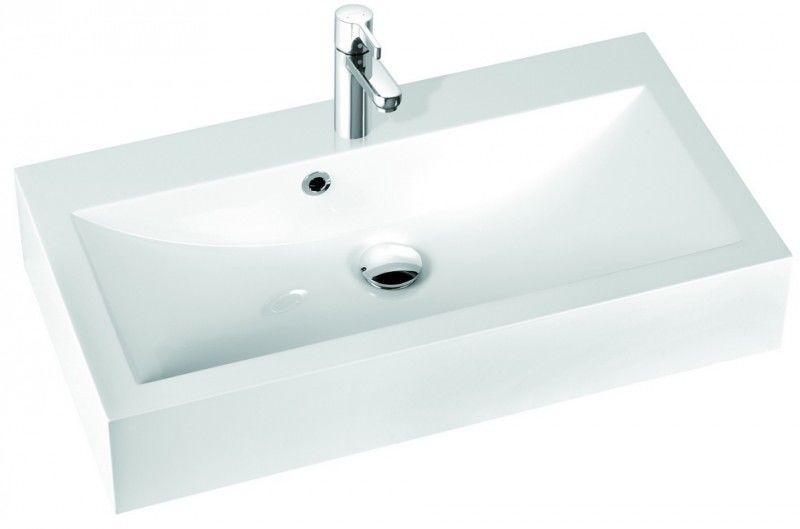 Marmorin umywalka nablatowa Ceto 80cm bez otworu biała 170080022010 __DARMOWA DOSTAWA__