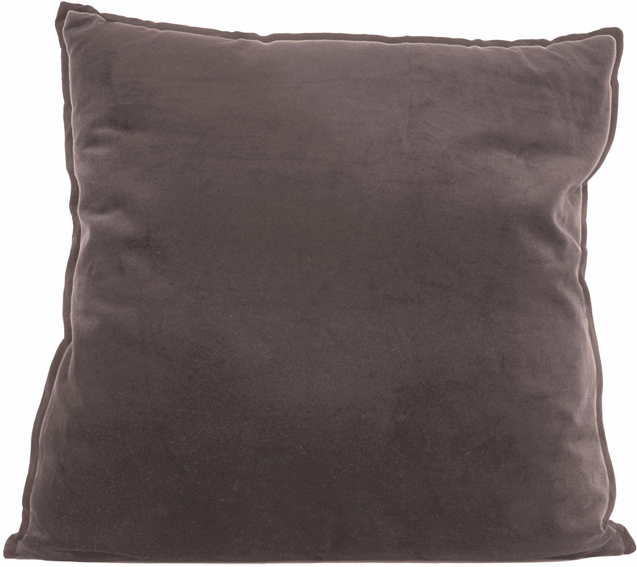PT poduszka do życia luksusowa XL kwadratowa aksamitna ciepła szara