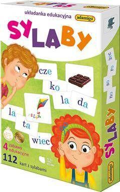 Układanka edukacyjna - Sylaby - Adamigo