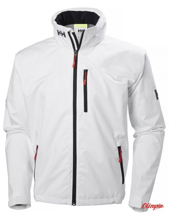 Kurtka żeglarska męska Helly Hansen Crew Hooded Jacket biała