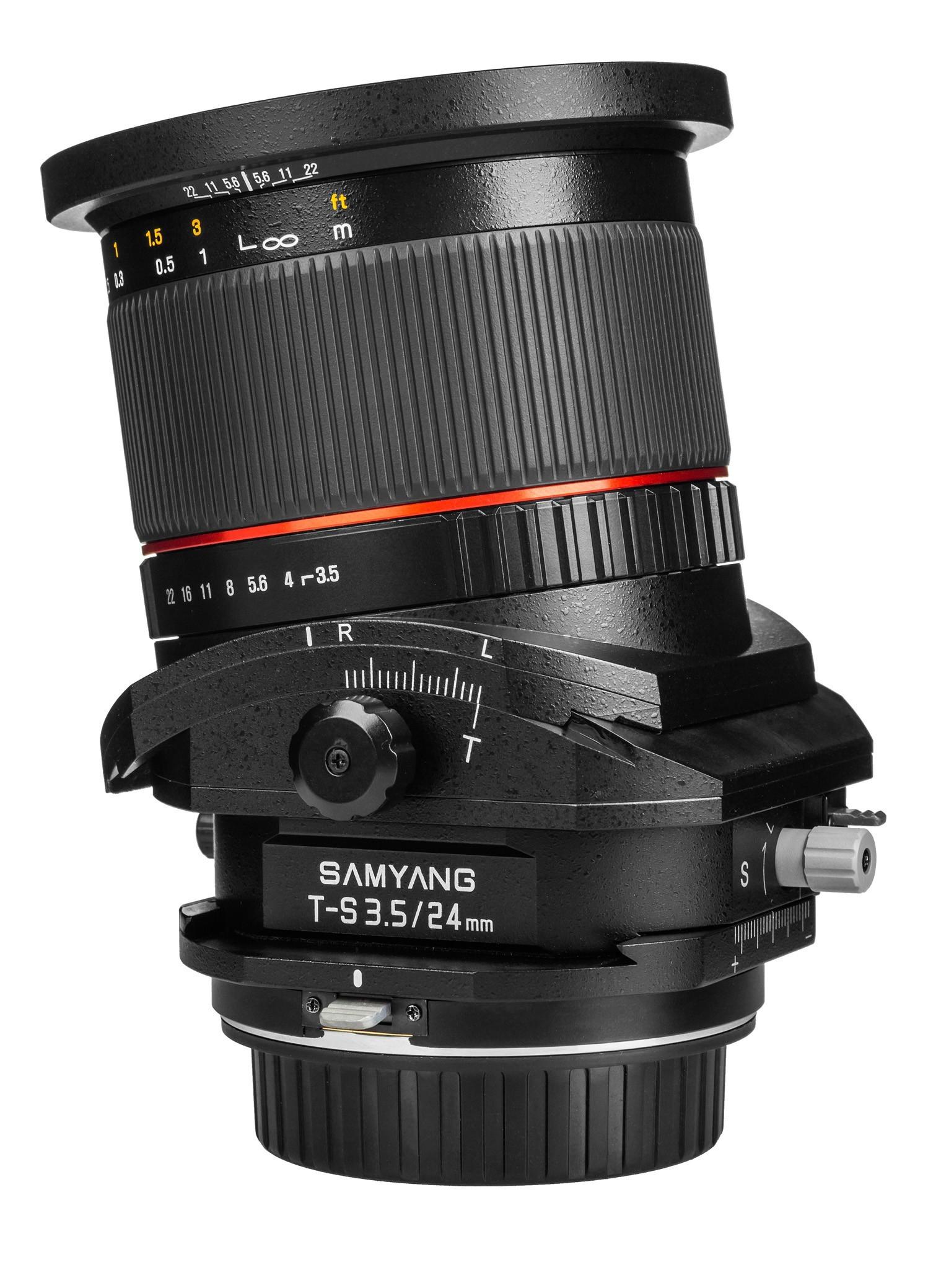 Samyang TILT/SHIFT 24mm F3.5 ED AS UMC - obiektyw do Nikon Samyang TILT/SHIFT 24mm F3.5 ED AS UMC