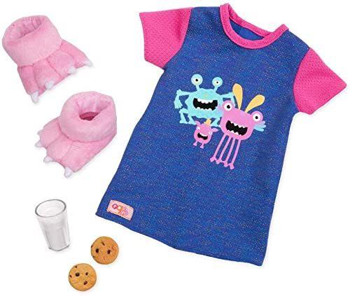 Our Generation BD30371Z strój koszula nocna Monster, kolorowa