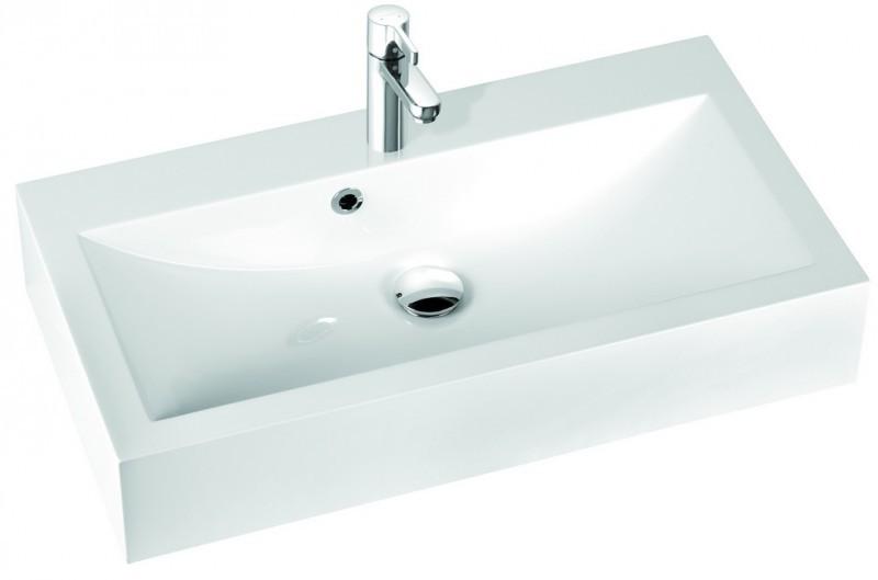 Marmorin umywalka nablatowa Ceto 80cm z otworem biała 170080022011 __DARMOWA DOSTAWA__