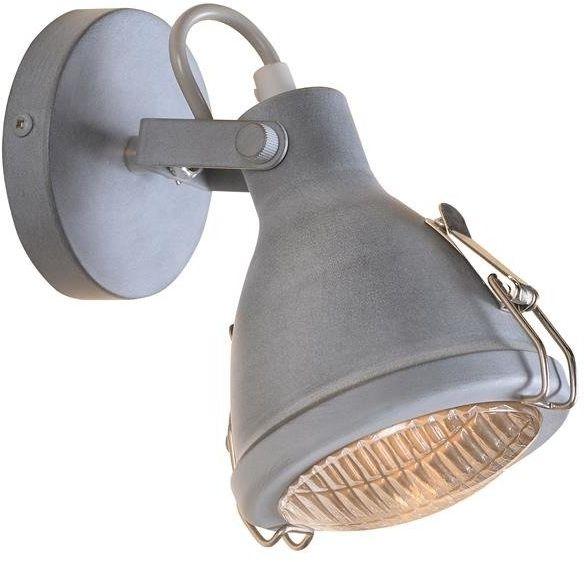 CRODO LAMPA KINKIET 1X40W E14 SZARY