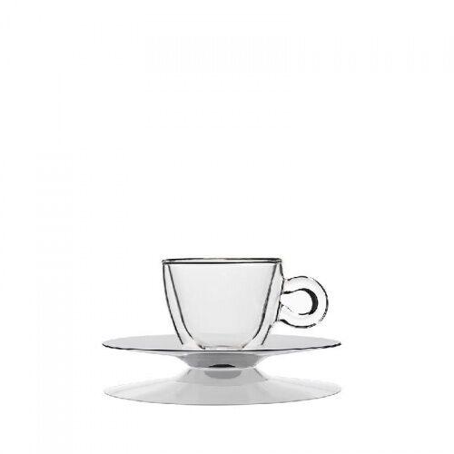Filiżanki termiczne do espresso ze spodkiem 65ml 2szt Luigi Bormioli