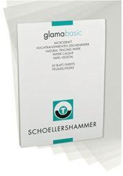 Honsell 25509 - młotek stolarski Glama Microdraft bardzo przezroczysty papier rysunkowy, blok DIN A3, 50 arkuszy, 90  95 g/m , do rysowania technicznego, szkicowania ołówkiem, flamastrem i tuszem