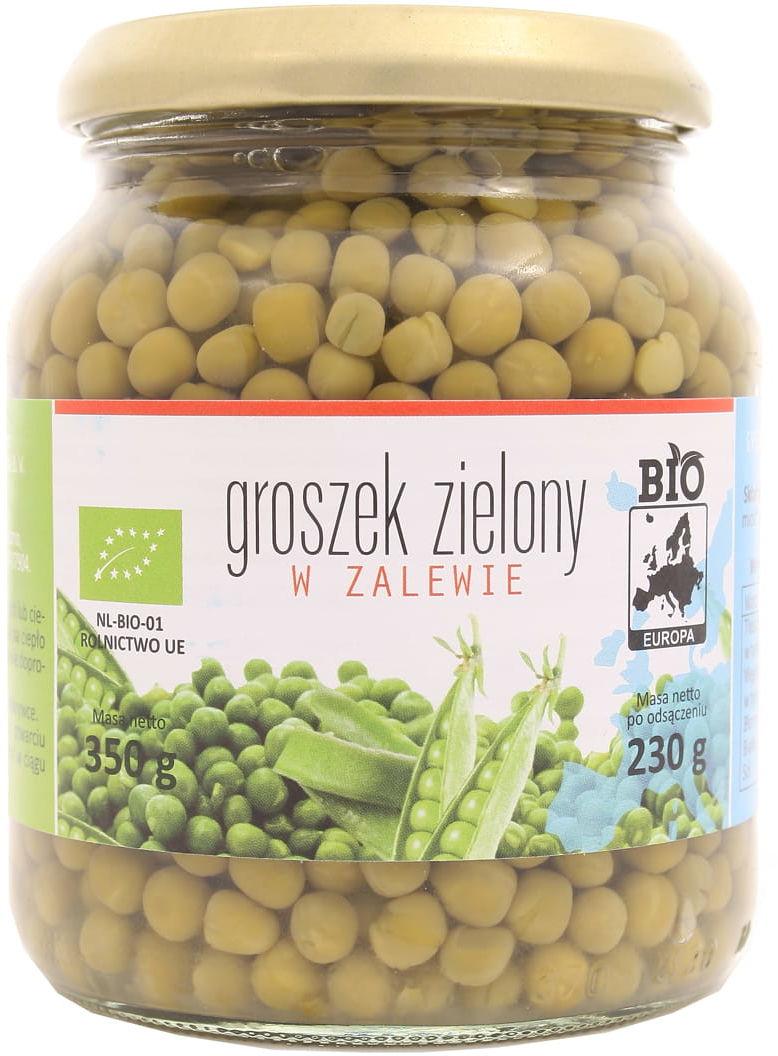 Groszek zielony w zalewie BIO - Baltussen - 230g