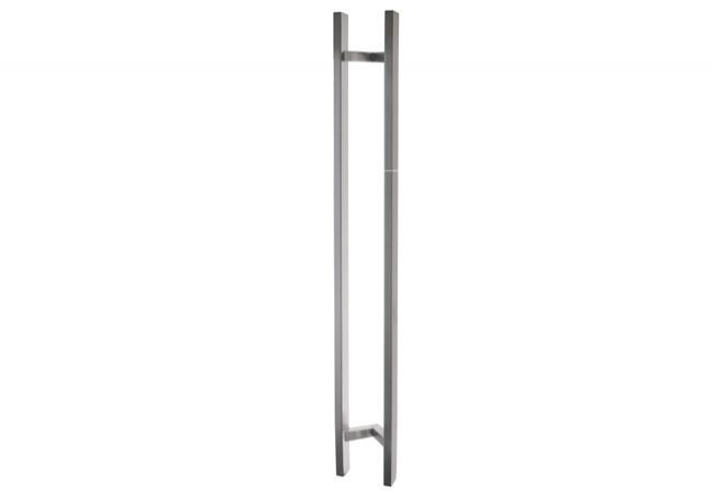 Pochwyt drzwiowy odgięty (45 stopni) L=1400 mm, X=1200 mm, stal nierdzewna prostokątny
