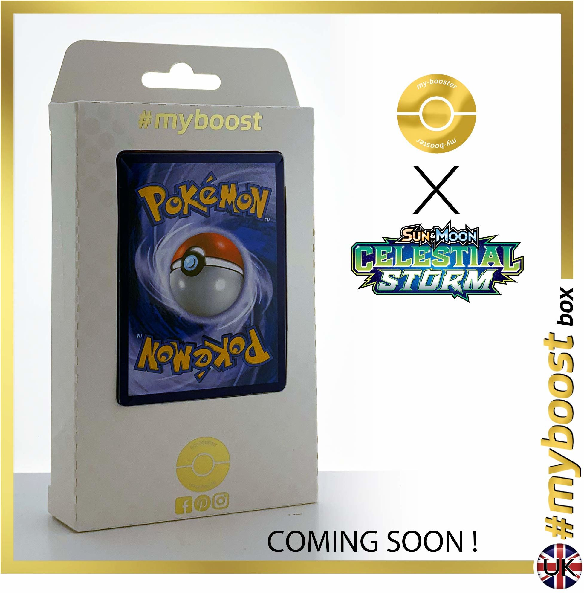 Latios 108/168 Holo Prism - #myboost X Sun & Moon 7 Celestrial Storm - pudełko 10 angielskich kart pokemon