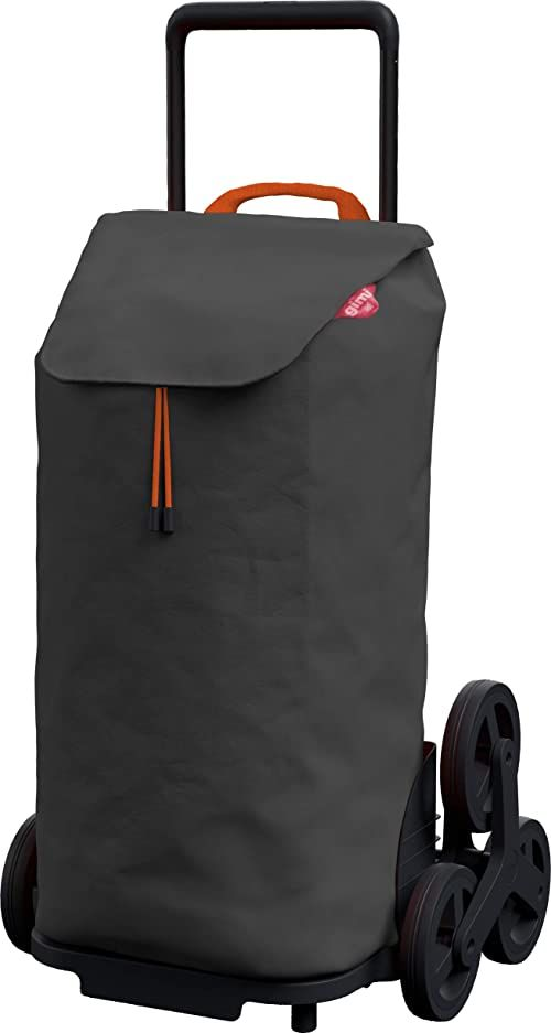 Gimi Tris torba na zakupy, wodoodporna torba, system 3 kółek, opakowanie Eco, pojemność: 52 l, maksymalne obciążenie: 30 kg, rama: stal/tworzywo sztuczne, torba na zakupy: poliester, antracyt