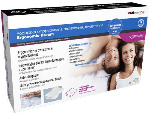 ERGONOMICZNA poduszka ortopedyczna z profilem na bark - dwustronna (5433ep)