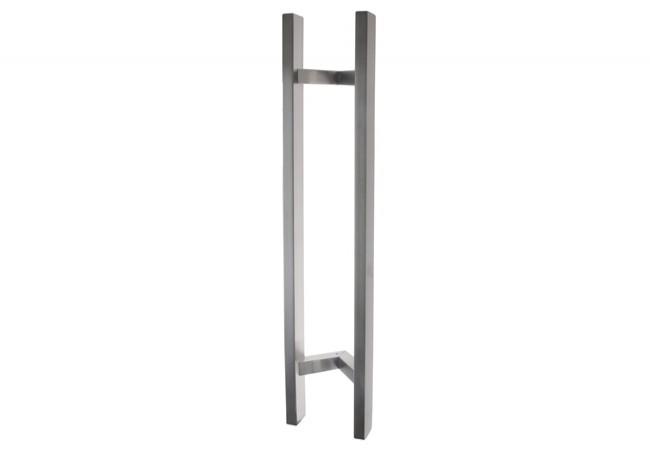 Pochwyt drzwiowy odgięty (45 stopni) L=800 mm, X=600 mm, stal nierdzewna prostokątny