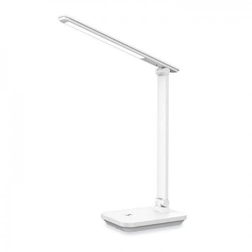 Lampka biurkowa LED 5W dzienna ściemnialna z akumulatorem- biała