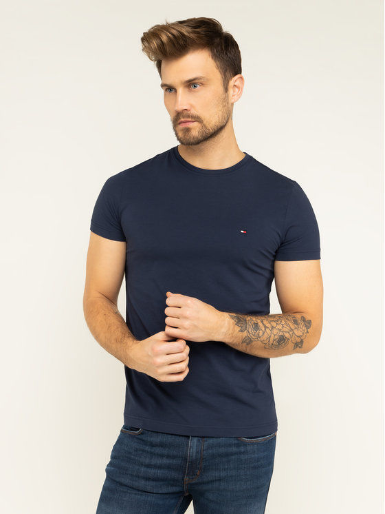 Tommy Hilfiger T-Shirt 867896625 Granatowy Slim Fit