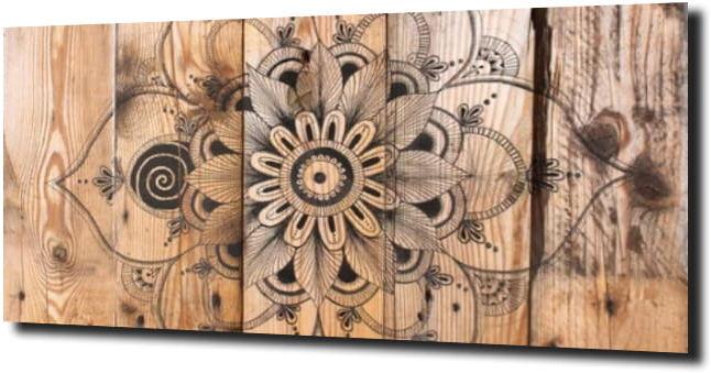 obraz na szkle Mandala drewno 120X60