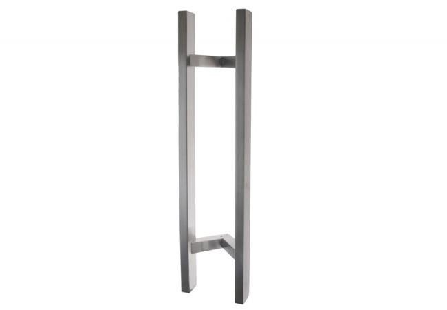 Pochwyt drzwiowy odgięty (45 stopni) L=650 mm , X=450 mm , stal nierdzewna prostokątny