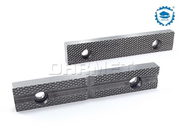Wkładki szczękowe do imadeł ślusarskich, szerokość 125 mm, typ WS 1250 55-40 125 - BISON-BIAL