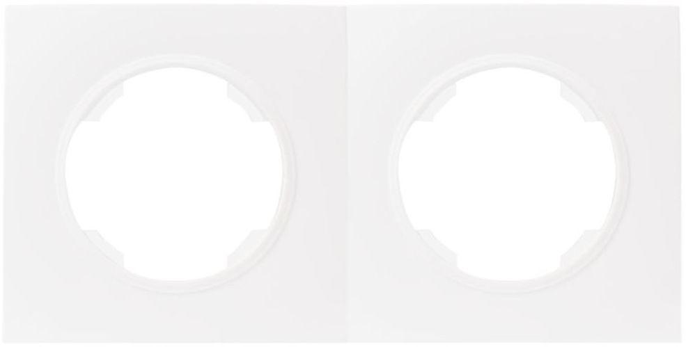 Ramka podwójna SOUL biały DMP SOLID