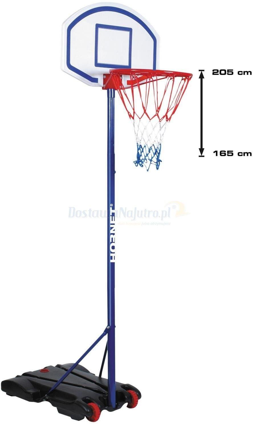 Kosz HUDORA Hornet 205 - zestaw do koszykówki z piłką