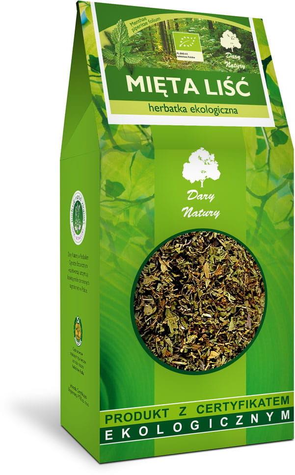 Herbatka Liść Mięty BIO 100g - Dary Natury
