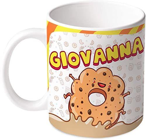 M.M. Group Filiżanka z imieniem i znaczeniem Giovanna, 30 ml, ceramika, wielokolorowa