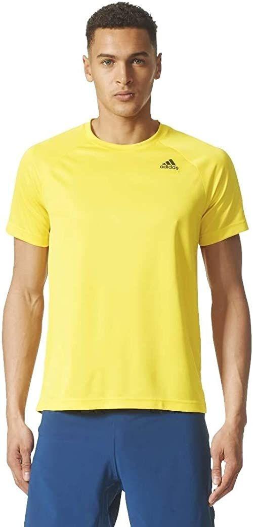 Adidas męska koszulka D2M Pl, żółty/Eqtama, średnia