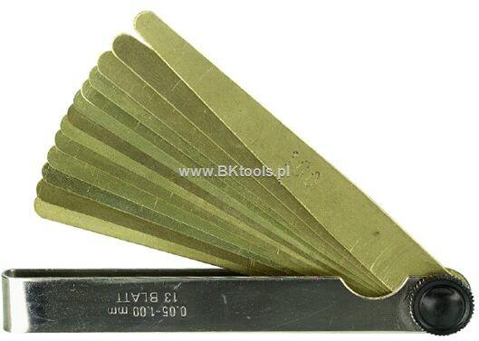 Szczelinomierz płytkowy mosiężny 0.05-0.50 Limit 67921007
