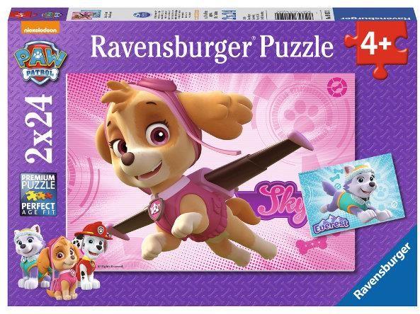 Puzzle 2x24 elementy Psi Patrol Skye i Everest (GXP-764268)