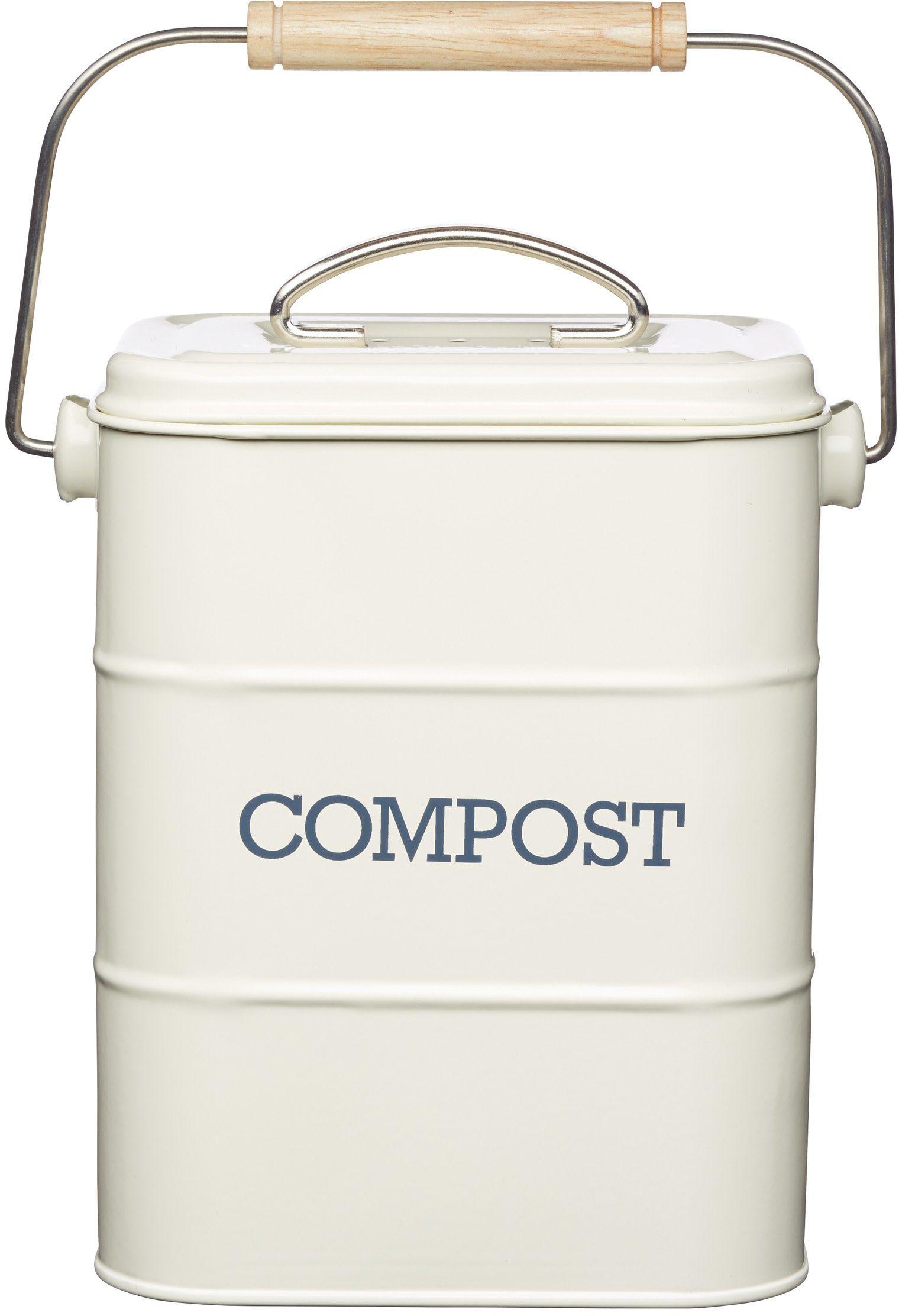 Kitchen Craft Living Nostalgia 3 litry kosz na kompost, wygląd antyczny, beżowy (kremowy)