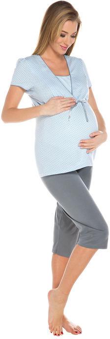Piżama ciążowa i do karmienia piersią Felicita jasnoniebieska