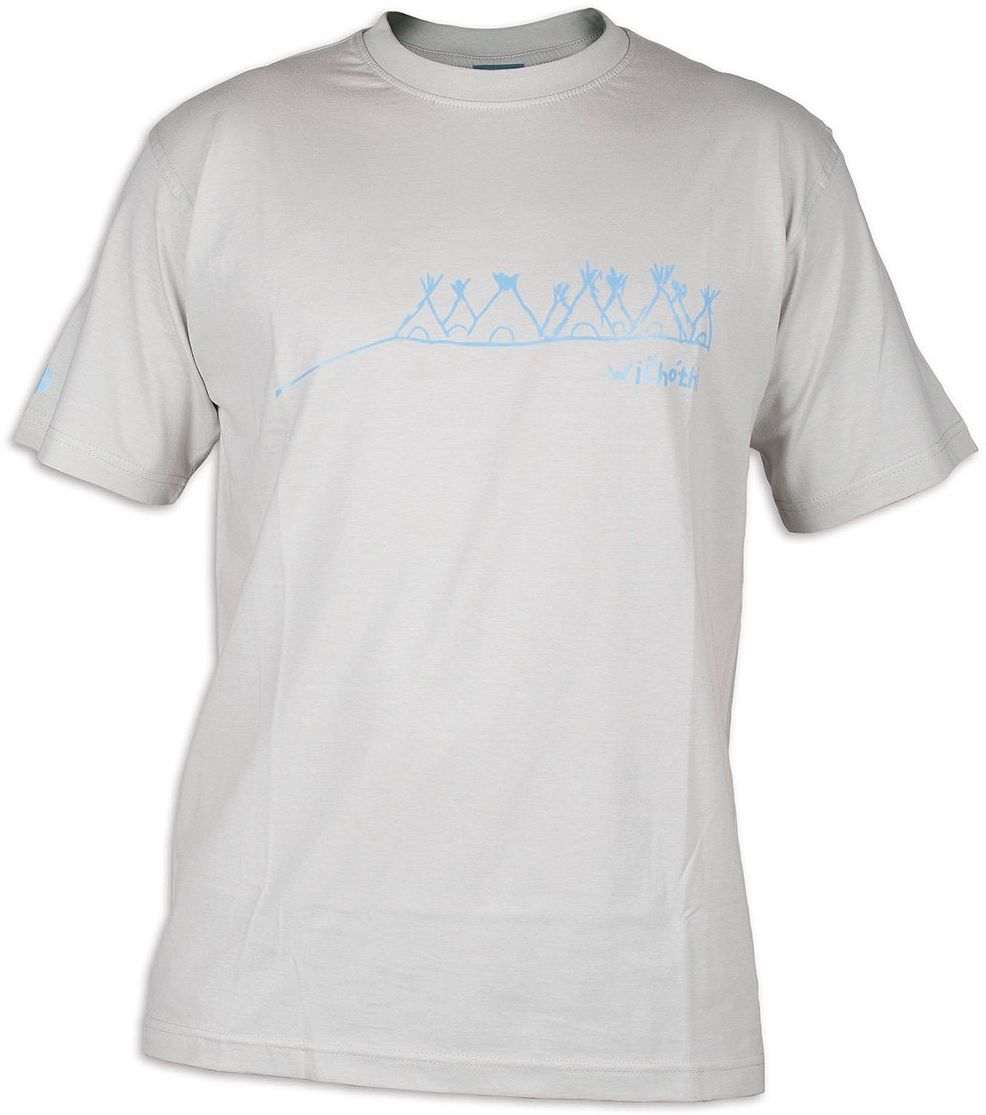 Tatonka męski T-shirt Wichothi, srebrnoszary, M, C178_734