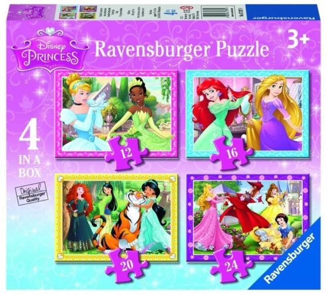 Puzzle 4w1 Księżniczki Disney - Ravensburger