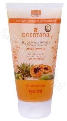 Orientana Naturalny żel do mycia twarzy z drobinkami ryżu, z aloesem i jaśminem 150 ml