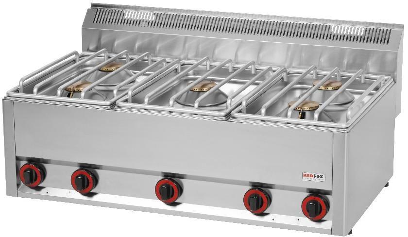 Kuchnia gastronomiczna gazowa 5-palnikowa SP 90/5 GL