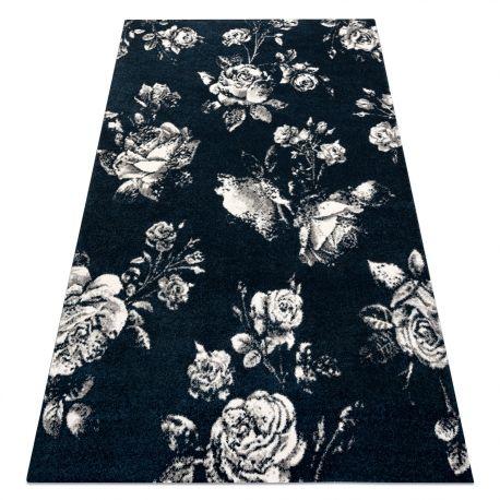 Dywan GNAB 60642734 Kwiaty róże granat / biały 120x170 cm