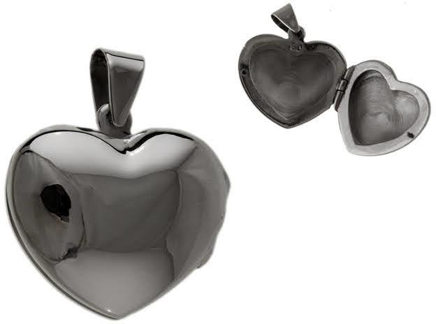 Gładki srebrny wisior wisiorek otwierany sekretnik puzderko serce serduszko heart srebro 925 W0363