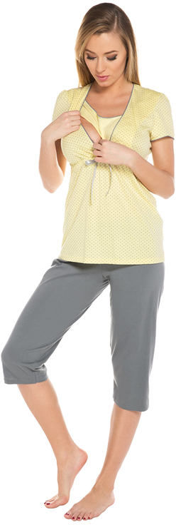 Piżama ciążowa i do karmienia Felicita żółta