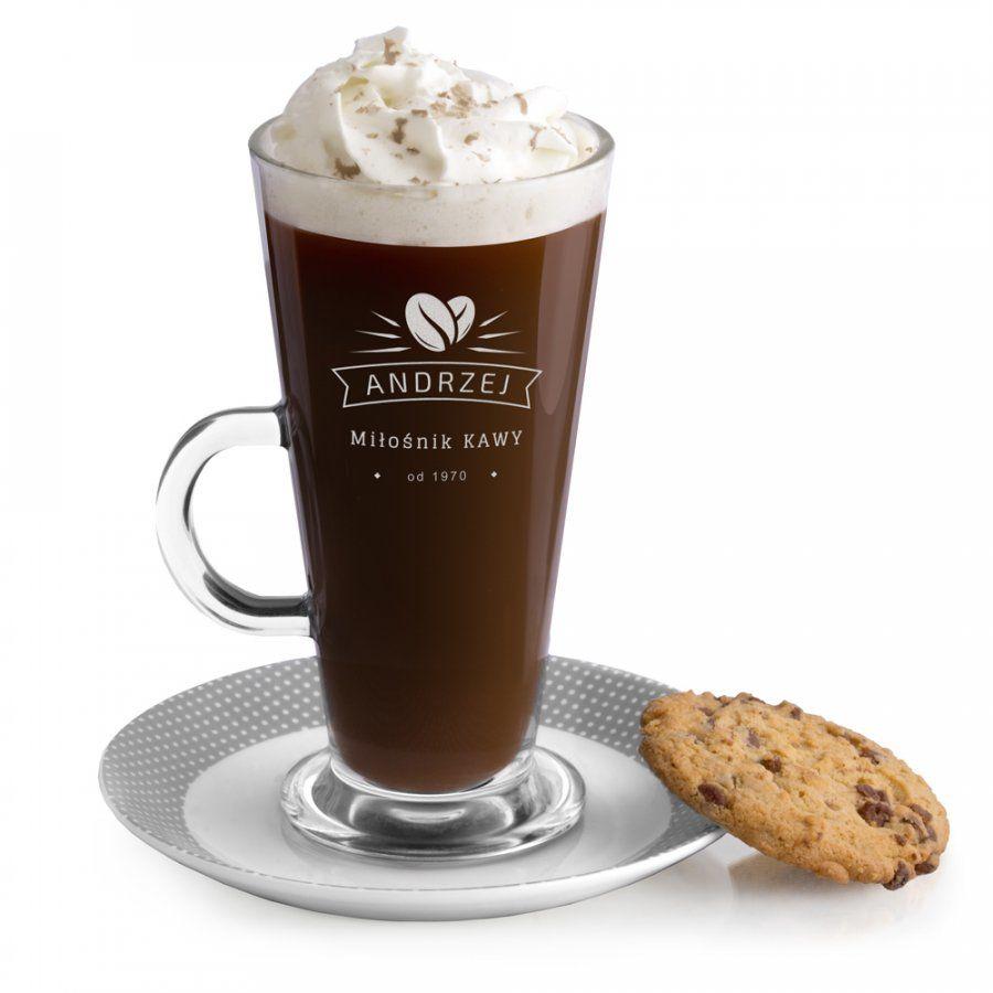 Szklanka do latte z grawerem dla kawosza na urodziny