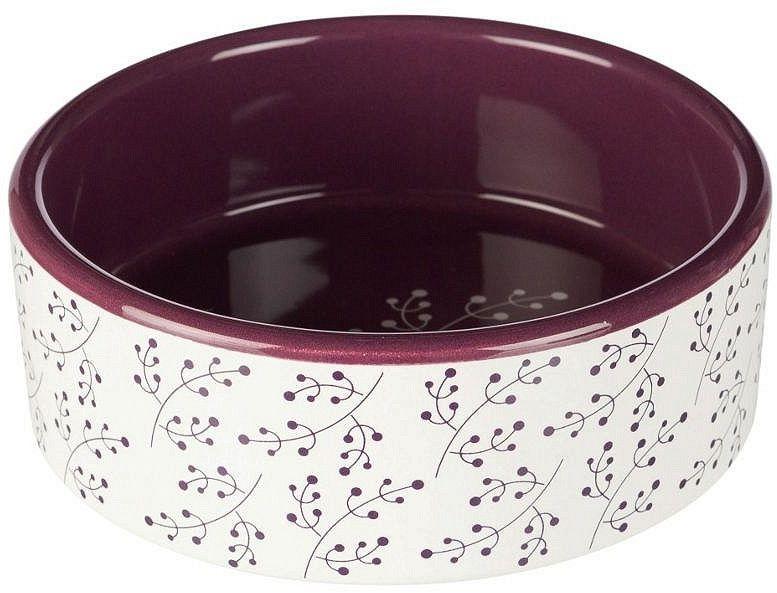 TRIXIE - Miska ceramiczna biało-jagodowa
